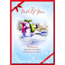 To Both of You Cute 50 Christmas Cards