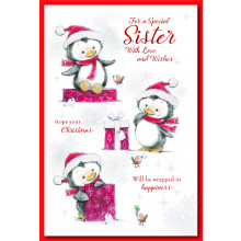 Sister Cute 75 Christmas Cards