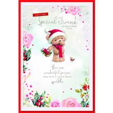 Special Friend Fem Cute 75 Christmas Cards