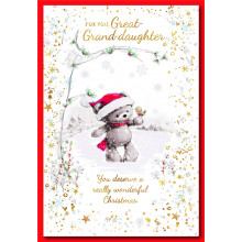 Great Grand-daughter Cute 50 Christmas Cards
