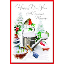New Year Robin 50 Christmas Cards