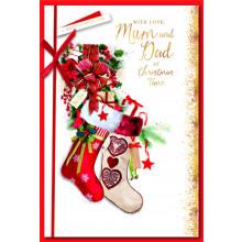 Mum+Dad Trad 75 Christmas Cards