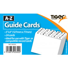 "A-Z Record Guide Card Set 5""x3"""