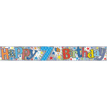 2.5m Party Banner Age 7 Boy