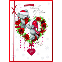 To Both of You Cute 90 Christmas Cards