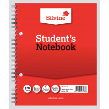 Silvine Spiral Notebook Narrow/Feint 8x6