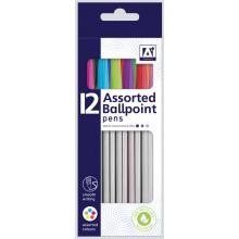 Assorted Ballpoint Pens 12 Pack