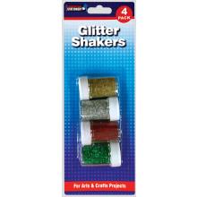XD05209 Pack 4 Glitter Shaker Asst