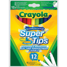 Crayola Super Tips Washable Marker 12s