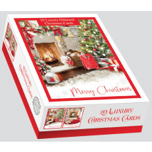 XD00601 Box 20 Home For Christmas Cards