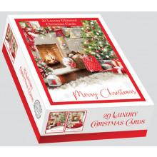 XD00602 Box 20 Home For Christmas Cards