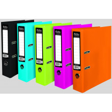 A4 Pukka Bright Lever Arch Files - Black/Blue/Pink/Green/Orange - Asst