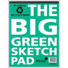 """Big Green Sketch Pad 12.5""""x9.5"""" 40pgs"""