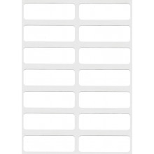 White Self Adhesive Labels 12x38mm