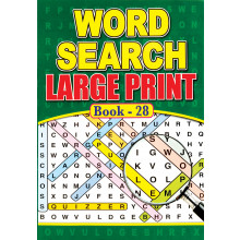 A4 Large Print Wordsearch 72pg 4 Asst