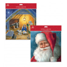 X1601 Santa/Nativity Advent Calendar