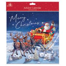 XD01501 Advent Santa Large Asst