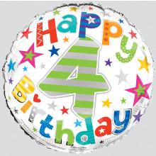 Foil Balloon Age 4 Unisex