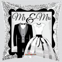 Mr & Mrs Square Foil Balloon