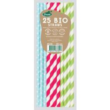Bio Paper Straws - Pastel 25s