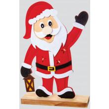 30cm Lit Felt Santa