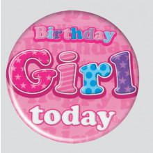Birthday Girl Mix 55mm Small Badges