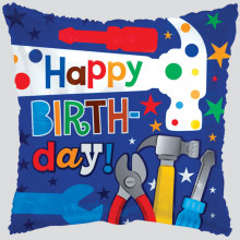 Square Hammer Birthday Foil Balloon