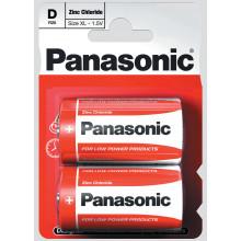 Panasonic D Zinc Carbon Batteries Pack 2