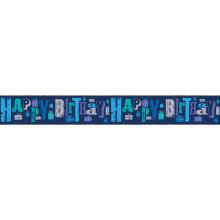 2.5m Party Banner Text Blue Male