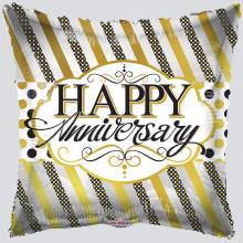 Happy Anniversary Square Foil Balloon