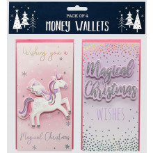 Money Wallets Unicorn 4 Pack