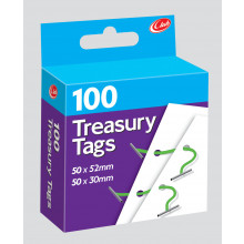A4803 Treasury Tags 100's 2 Asst
