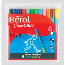 Berol Colourfine Pens Wallet 12 Assorted