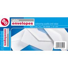 White Envelopes DL 50s (Gummed)