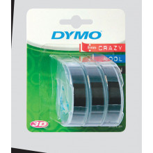 Dymo Tape 3 Pack 9mmx2m Black