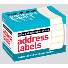 Self Adhesive Address Labels 89x37mm Roll 250