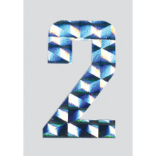 Roman Labels Holographic Numerals No.2
