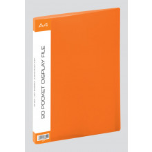 A4 Bright Display Files 20 pocket Asst