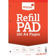 Silvine A4 Refill Pad Feint/Margin 160pg