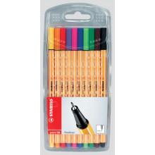 Stabilo Point 88 Fine Pens Wallet 10s