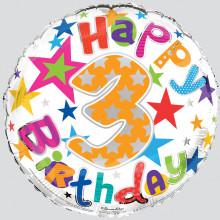 Foil Balloon Age 3 Unisex