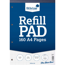 Silvine A4 Refill Pad 5mm Squares 160pgs