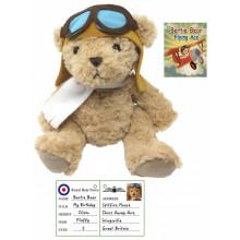 Plush Bertie The Flying Pilot Bear 20cm