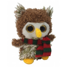 Plush Glitter-Eyed Owl 10cm