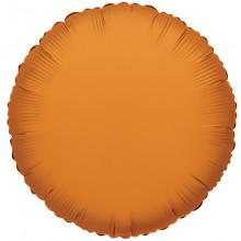 "Foil Balloon Orange Circle 18"""