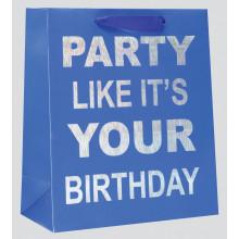 Medium Gift Bag Party Blue