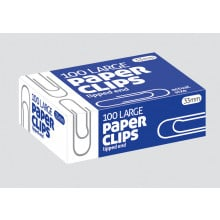 Paper Clips 33mm Lipped 100s
