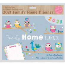 D0801 A3 Family Planner Butterfly/Owl