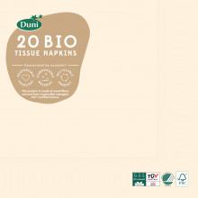 XD05707 Bio Napkins 33cm 3 Ply Cream