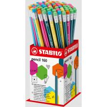 Stabilo 2B Pencil Rubber Tipped Asst Tub
